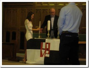 quilt on altar