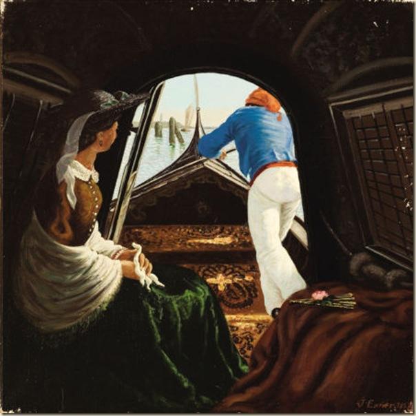 Exner, En gondole 1859