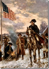 George Washington leading his army
