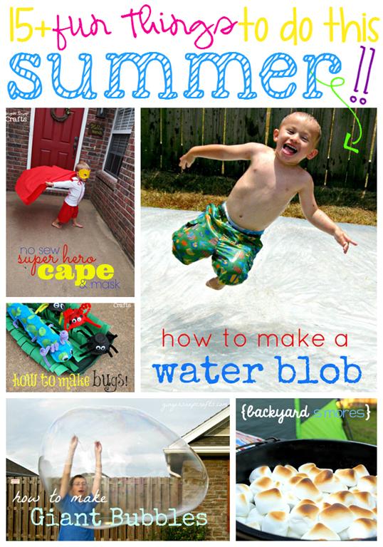 15 Fun Things to do this Summer at GingerSnapCrafts.com #summer #summerfun #kidscrafts #kidactivities