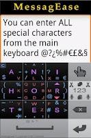 Screenshot of English MessagEase Wordlist