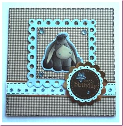 Docrafts My Blue Nose Friends card 1