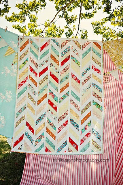 herringbone quilt via ashley ann photography