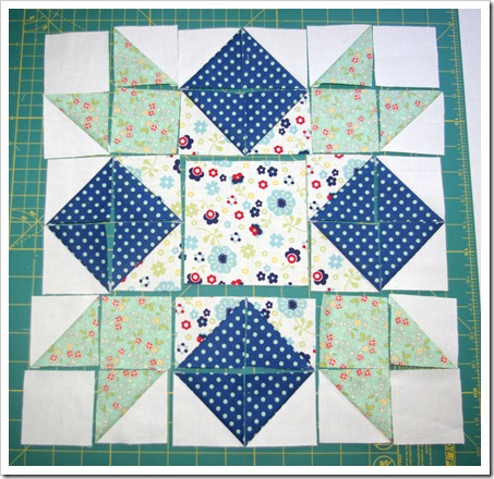 Squares and Stars step 4