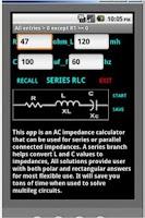 Screenshot of AC Impedance Calculator
