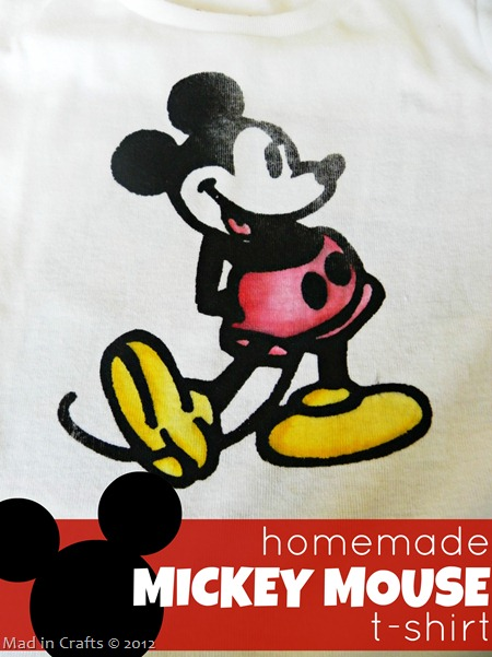 DIY Colored Mickey Mouse Shirt