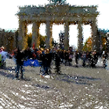 Berlin re-created with Flash and Painted with the Hyper Framework.