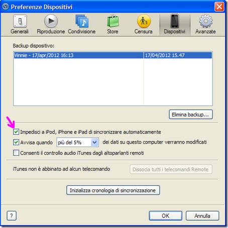 Preferenze Dispositivi