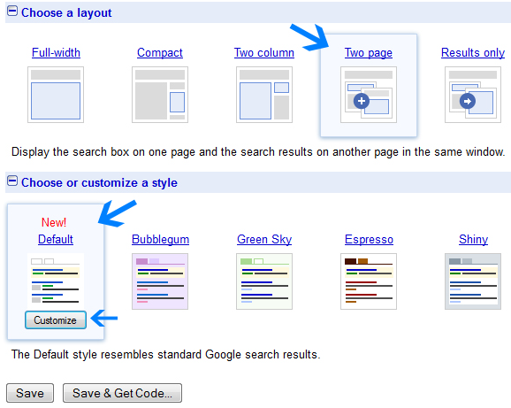 create google search box