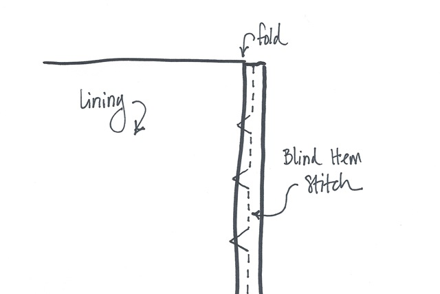 blind hem stitch sketch