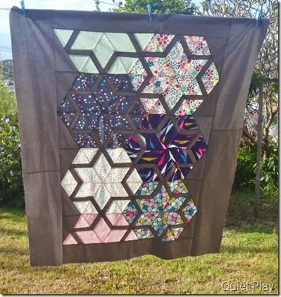 Koi Constellation quilt top