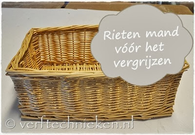 verftechnieken.nl rieten mandje voor de behandeling