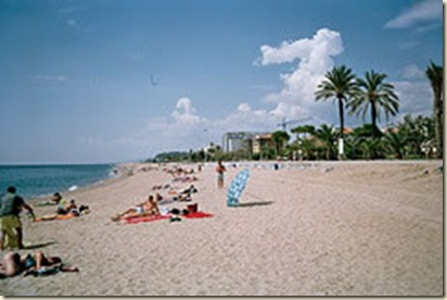 La Playa de Pineda de Mar.-