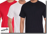 Buy T-Shirts Pack (Weardo)of 3 at Rs. 499 – 6 Combos & 4 Sizes Available – Groupon