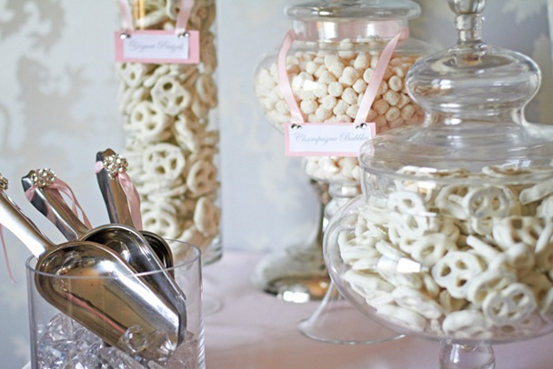 pink-wedding-candy-station-buffet-bling