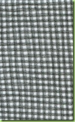 1.Gingham fabric - 3 rows of triple needle straight stitching in each line