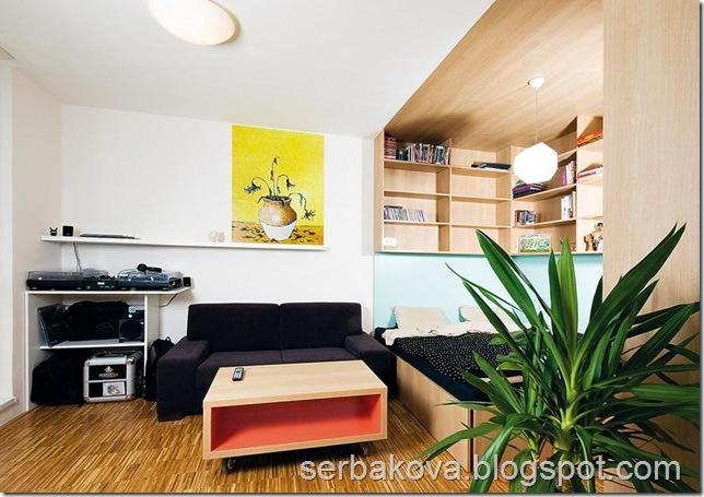 дизайн проект однокомнатной квартиры 1