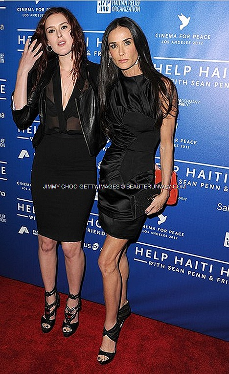 Beauterunway Singapore Luxury Travel Lifestyle Fashion Blog Beauty Shopping Gourmet Jimmy Choo For Demi Moore And Felicity Jones At Cinema For Peace 2012 Los Angeles
