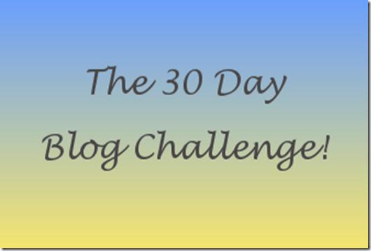30 day blog header