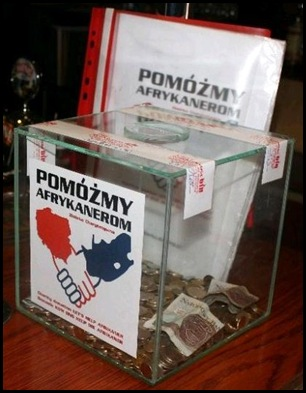 AFRIKANER POOR COLLECTION IN POLISH PUB