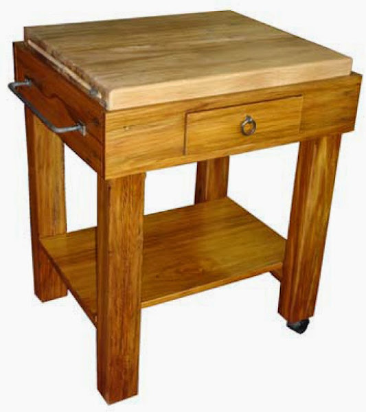 butcher block tables casual cottage