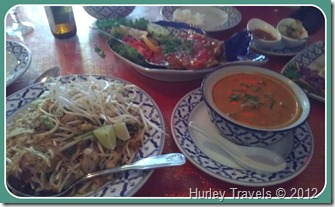 Thai dishes at Sawasdee Thai Restaurant, Indy.