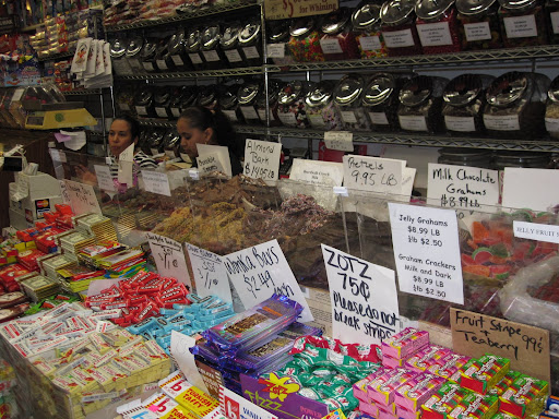 Here is the selection of candy in front of the cash registers... There's plenty of sweets to pick from last minute before paying.