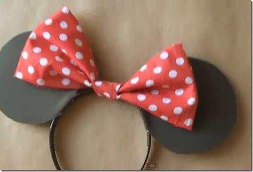 hacer Diadema de Minnie Mouse con lazo y orejas | Trato o truco