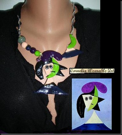 Picasso - Woman in a hat INSPIRED NECKLACE - Copy