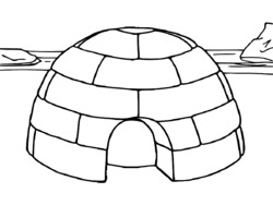 Dibujos de icebergs dibujos de igl s para colorear - Coloriage igloo ...