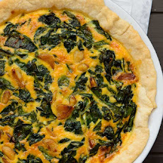 Sriracha Garlic Spinach Quiche