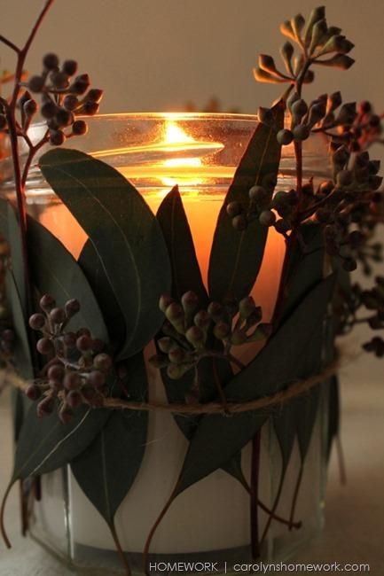 Eucalyptus Votive via homework | carolynshomework.com