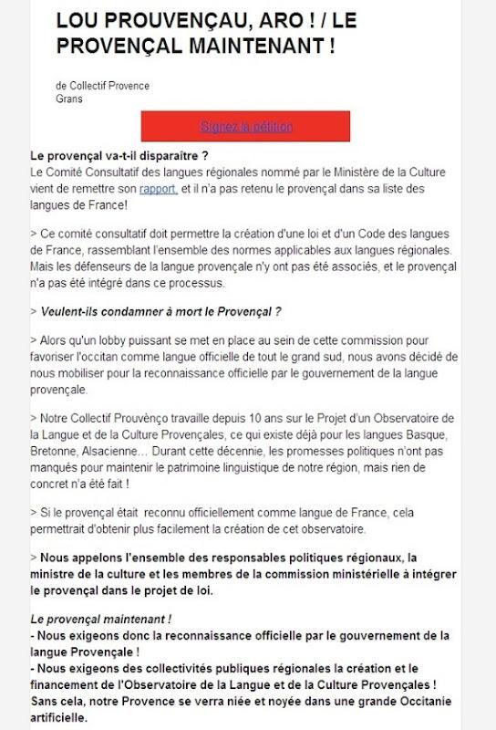 peticion de las estupiditats provençalas