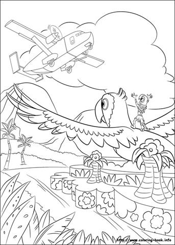Desenhos para colorir filme Rio