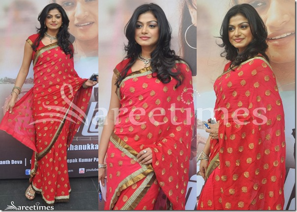 Hudasha_Red_Saree