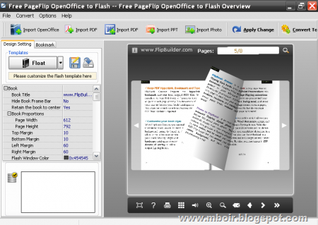 Free Pageflip OpenOffice to Flash - mboir