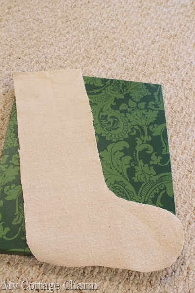 dropcloth Christmas stocking