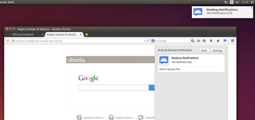 Desktop Notifications in Firefox