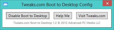 Boot to desktop