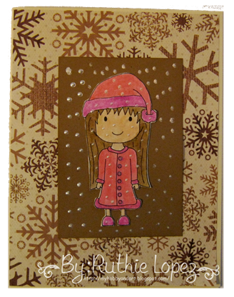 Christmas Josie - tarjeta navidena -  Platypus Creek Digitals