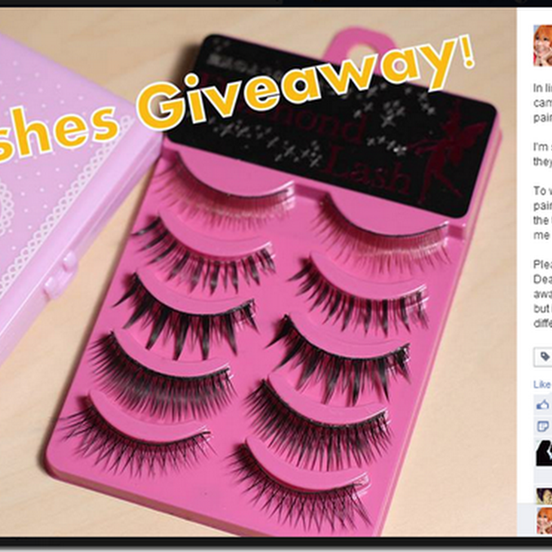Fake lashes + Case Giveaway Result!
