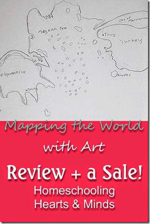 A Review of Mapping the World with Art, just one of the many great programs available in the Build Your Own Bundle Homeschool Edition Sale.