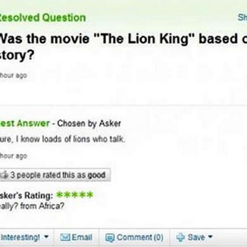 Soalan yang tak payah ditanya pada umum !