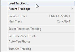 Load Track Log
