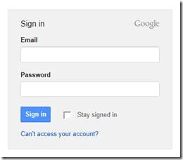 Google Analytics Sign-in