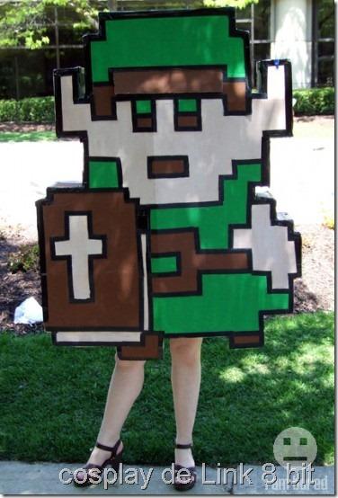 cosplay de Link 8 bits