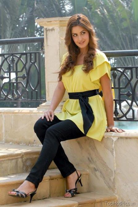 Katrina Kaif Sweet Photos in Short Yellow Dress 5