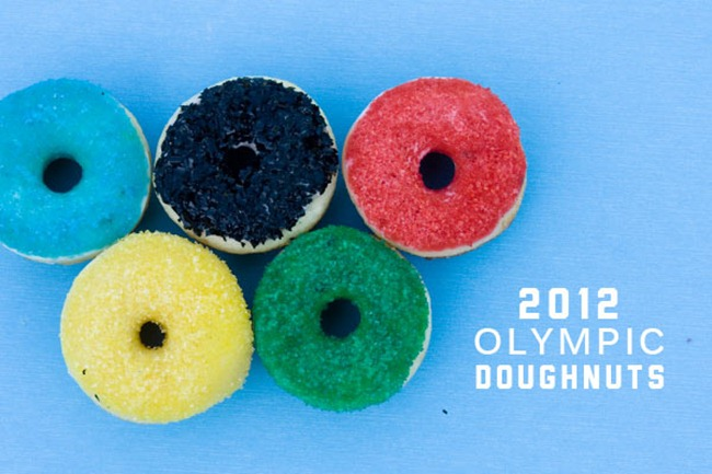 olympic doughnuts for dessert table