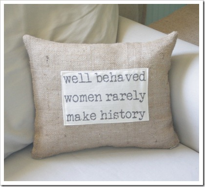 Well behaved pillow