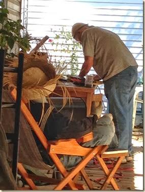 Eric building mailbox